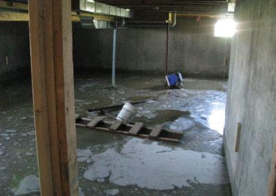 water damage basement flooding repairs