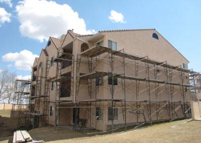 building envelope construction exterior stucco condo building