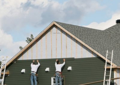building envelope specialists adding siding to property