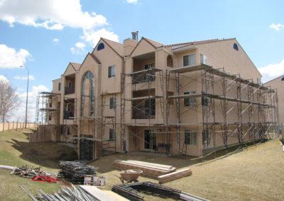 scaffolding stucco repair building envelope calgary