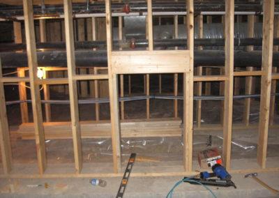 framing basement walls residential property calgary