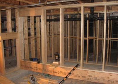 construction residential basement wall framing calgary