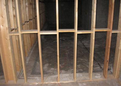 interior basement construction framing walls