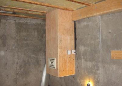 property construction basement ventilation renovation