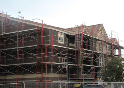 building envelope scaffolding work on condo unit calgary